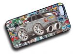 Koolart STICKERBOMB STYLE Design For Range Rover Sport HSE Hard Case Cover Fits Apple iPhone 4 & 4s